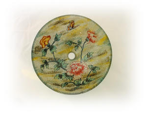 Lasinen pesuvati, Vintage Rose SY189