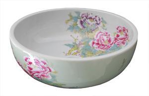 Pesuallas posliini, China Rose SSY010 White/Green