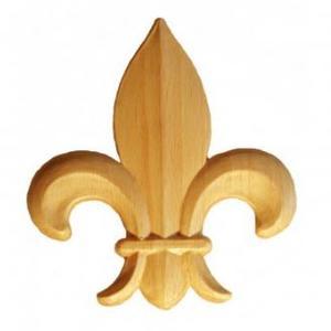 Puuornamentti - Ranskan lilja SOM28
